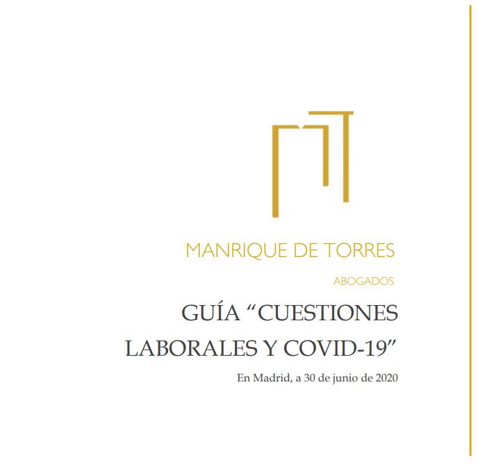 Guía «Cuestiones laborales y COVID-19»